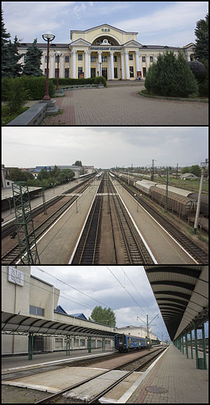 Chop, Zakarpattia Oblast - Railway station in Chop