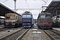 ЭД2Т-1007, ЧС7-126 и ВЛ82М-050, Украина, Харьковская область, станция Харьков-Пассажирский (Trainpix 212362).jpg