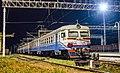 ЭР9М-523, Украина, Харьковская область, станция Красноград (Trainpix 140761).jpg