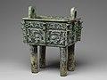商 青銅方鼎-Rectangular Cauldron (Fangding) MET DP140735.jpg