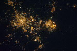 天津夜景航拍20110419
