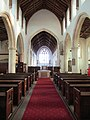 -2018-12-10 Looking down the nave of Saint Margaret of Antioch parish church, Suffield, Norfolk.JPG