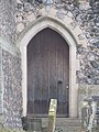 -2020-12-09 Gothic arched doorway, south facing elevation, Saint Nicholas, Salthouse.JPG
