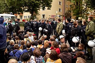 Protests against eviction of Gerhart-Hauptmann-Schule