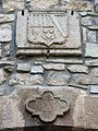 003 El Casal, antic molí de Baix del Senyor (Guimerà), escut del viscomte d'Èvol i data.jpg