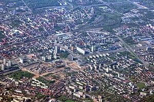Spodek - Spodek as seen in downtown Katowice