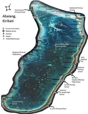 Abaiang - Map of Abaiang