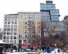Viewed from Union Square. From left to right, the buildings shown are the Lincoln Building, Springler Building, 15 Union Square West