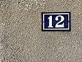 12, rue des Andrés, numéro de rue à Saint-Maurice-de-Beynost (Ain, France).jpg
