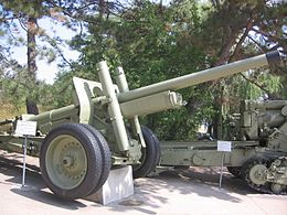 122 mm gun (A-19) displayed at the Museum of Heroic Defense and Liberation of Sevastopol on Sapun Mountain.JPG