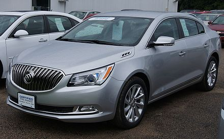 2nd generation Buick LaCrosse, an example of GM's revival following its restructuring in the aftermath of the Great Recession 14 Buick LaCrosse (14344035480).jpg
