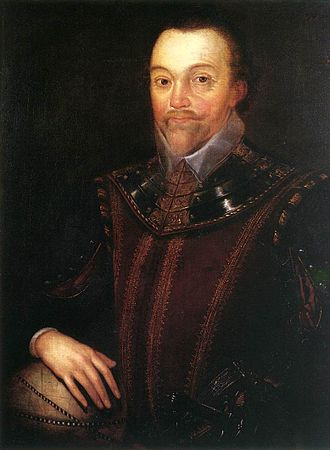 Francis Drake - Sir Francis Drake in Buckland Abbey 16th century, oil on canvas, by Marcus Gheeraerts the Younger