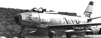 67th Cyberspace Wing - Image: 15th Tactical Reconnaissance Squadron North American RF 86A 5 NA Sabre 48 195