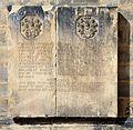 1724 circa Grabstein mit Wappen Christian Friedrich von Harling, Anna Catharina von Offen, Neustädter Hof- und Stadtkirche, Hannover.jpg