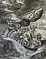 172 Life of Christ Phillip Medhurst Collection 4357 Christ stills the tempest Mark 4.37-38 De Vos.jpg