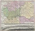 1741 Homann View and Map of London, England and Environs - Geographicus - London-homann-1741.jpg