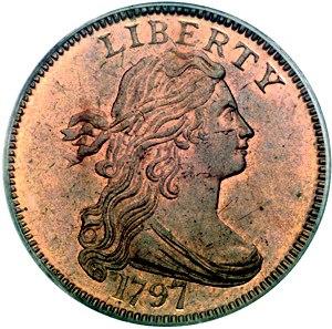 Large cent - A 1797 large cent