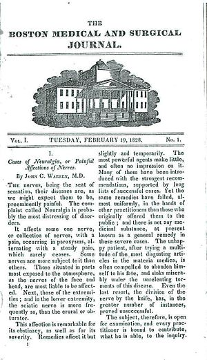 The New England Journal of Medicine - 1828 Boston Medical and Surgical Journal