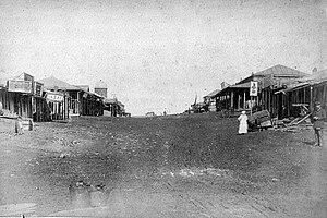 Donetsk - A market on the main street of Novyi Svet section of Yuzivka. (1887)
