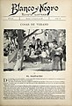 1897-08-07, Blanco y Negro, Cosas de verano VI, El gazpacho, El Doctor Thebussem, Huertas 01.jpg