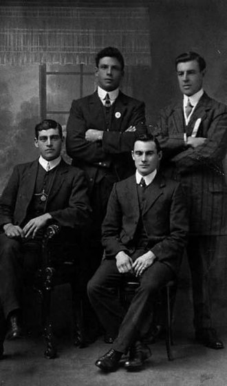 Harold Oliver (Australian footballer) - Port Adelaide's 1911 National football carnival representatives for South Australia. (L-R: Congear, Oliver, Hosking, Hansen.