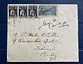 1919, Postal cover with War Tax stamp mailed from Aldona to Nachinola - front side.jpg