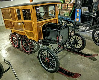 Snowmobile - 1921 Ford Model T snowmobile