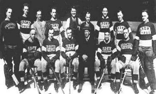 A collection of photographic head-shots of the Toronto St. Patricks team for the 1921–22 season