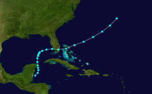 1936 Atlantic hurricane season - Image: 1936 Atlantic tropical storm 1 track