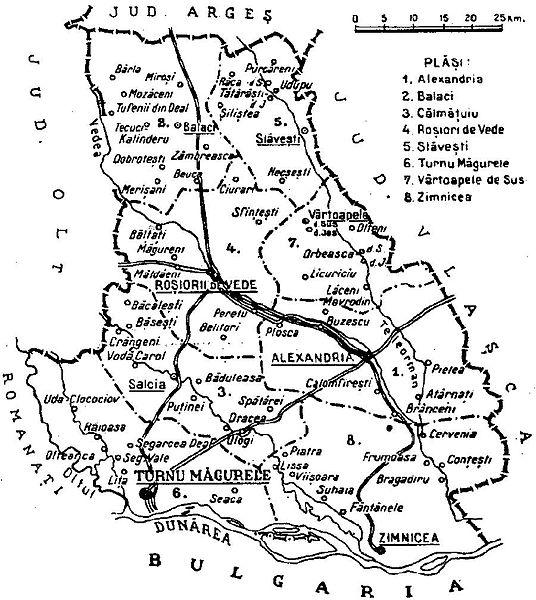 File 1938 Map Of Interwar County Teleorman Jpg Wikimedia Commons
