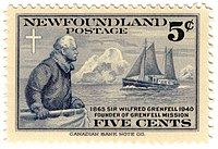 Stamp featuring Sir Wilfred Grenfell