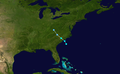 1952 Atlantic tropical storm 3 track.png