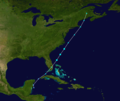 1952 Groundhog Day tropical storm track.png