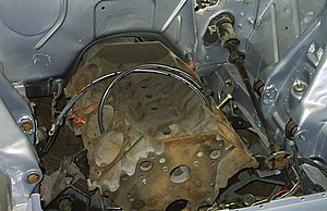 Engine bay of 1969 AMC (American Motors Corpor...