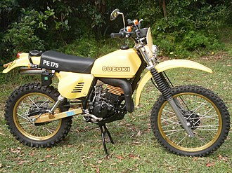 Enduro motorcycle - 1979 Suzuki PE175 street-legal enduro bike