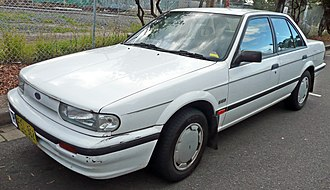 Button car plan - Image: 1989 1992 Ford Corsair (UA) GL sedan 02