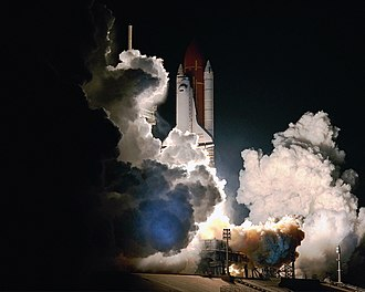 STS-33 - Image: 1989 s 33 Liftoff