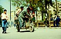 1996 Aleppo, Syria. Men on Tricycle. Spielvogel Archiv.JPG