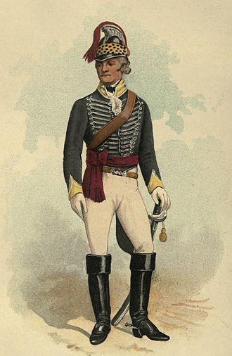 19th Light Dragoons - 19th Light Dragoons officer, 1792