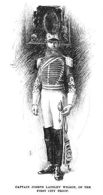First Troop Philadelphia City Cavalry - Captain Joseph Lapsley Wilson of the First City Troop circa 1894