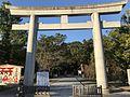 1st torii of Sumiyoshi Shrine 3.jpg
