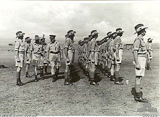 Royal Australian Army Medical Corps - Members of the 2/12th Field Ambulance during a parade in November 1943.