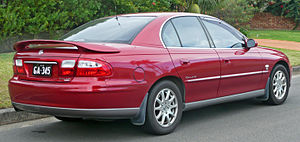 Holden Commodore (VX) - The full-width tail lamp panel featured on the Berlina and Calais (pictured) variants.