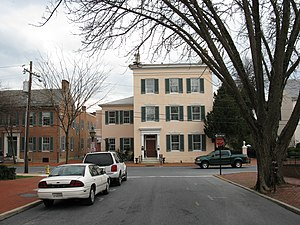 Spite house - The Tyler Spite House in Frederick, Maryland. It is located at the southern terminus of Record Street