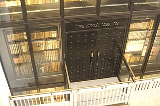 King's Library - The King's Library tower in the British Library, where the books now are.