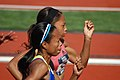 2008 Olympic Track Trials - Muna Lee foreground and Allyson Felix.jpg