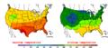 2009-06-14 Color Max-min Temperature Map NOAA.png