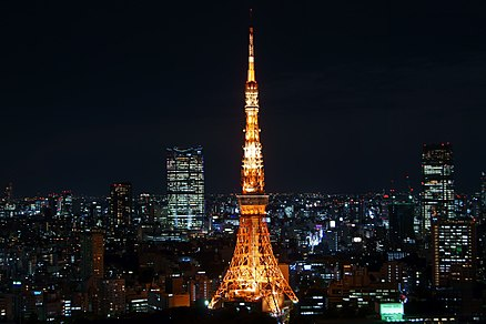 01010  Tokyo Tower illuminated from W T C