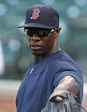 Mike Cameron in a Boston Red Sox uniform