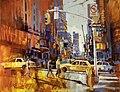 2011 03 New York 7th AV, 190x250cm, Acrylic on Canvas wiki.jpg